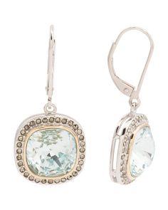 14k Gold And Sterling Silver Marcasite Swarovski Earrings