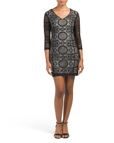 Juniors Yazmin Lace Bodycon Dress