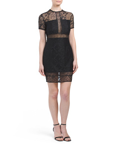 Lace Blocked Dress