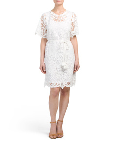Bold Floral Lace Dress