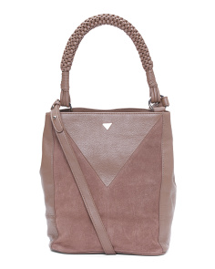 Monica Leather Bucket Bag