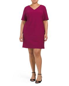 Plus Stretch Shift Dress