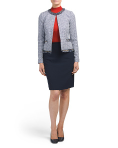 Petite Tweed Skirt Suit
