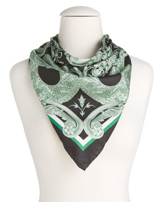 Made In Italy Foulard Silk Scarf