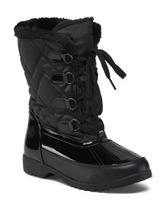 Quilted Lace Up Cold Weather Boots