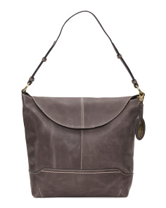 Echo Flap Leather Hobo Bag