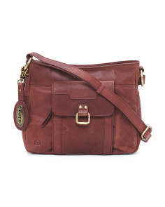 Eudora Leather Crossbody With Organizer