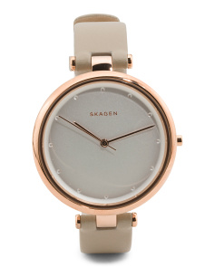 Women's Tanja Leather Strap Watch