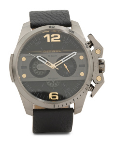Men's Chronograph Ironside Leather Strap Watch