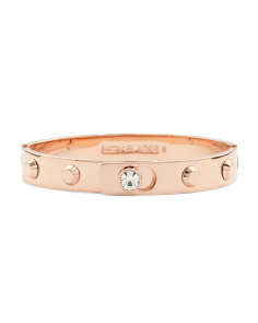 Studded Astor Bangle Bracelet In Rose Gold Tone