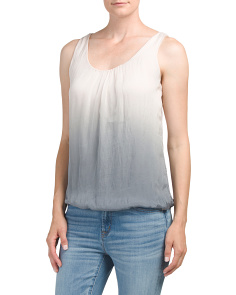 Made In Italy Silk Ombre Top