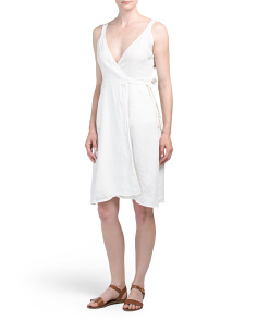 Ivara Solid Linen Dress