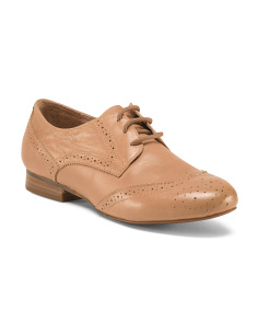 Vintage Inspired Leather Oxfords