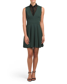 Collared Fit And Flare Dress