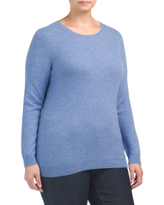 Plus Cashmere Crew Neck Sweater
