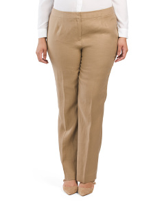 Plus Lavish Linen Barrow Pants