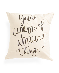 Made In USA 18x18 You're Capable Pillow