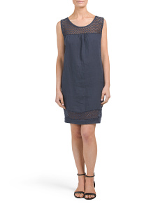 Made In Italy Linen Shift Dress