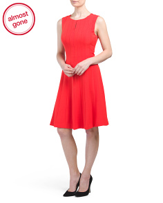 Seamed Fit & Flare Dress