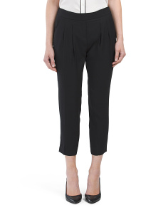 Juniors Pleated Ankle Pants