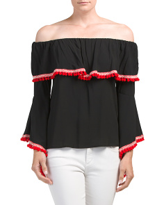 Off The Shoulder Moroccan Top