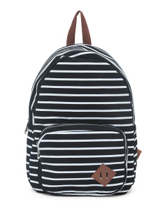 Striped Jersey Backpack