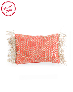 14x20 Textured Fringed Pillow