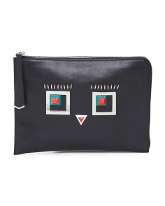Made In Italy Leather Monster Pouch