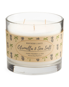 3-wick Citronella And Sea Salt Candle
