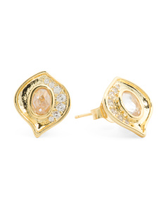 Charlotte Pave Cubic Zirconia Stud Earrings