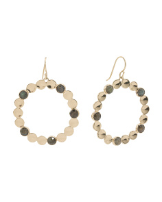 Remmington Gemstone Pod Hoop Earrings