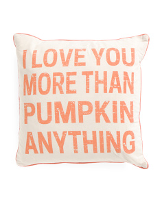 20x20 Faux Linen I Love You Pillow
