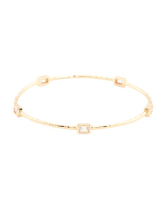 Brie Cubic Zirconia Bangle Bracelet