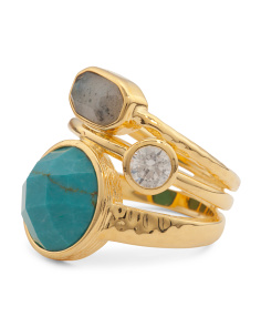 Courtney Multi Gemstone Stacked Ring