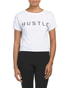 Hustle Cropped Tee