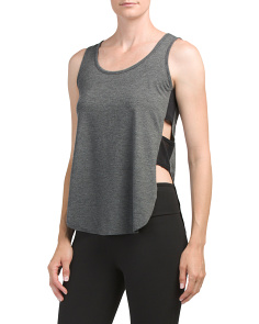 Tab Side Heathered Tank
