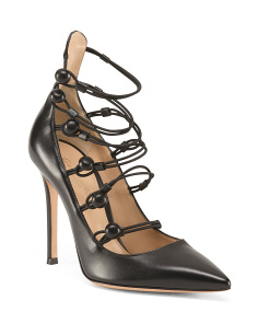 Made In Italy Strappy Leather Heels
