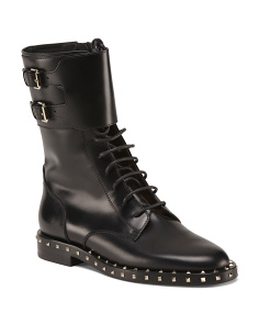 Made In Italy Lace Up Leather Boots