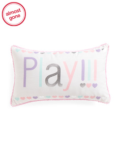Kids 12x20 Play Pillow With Pom Poms