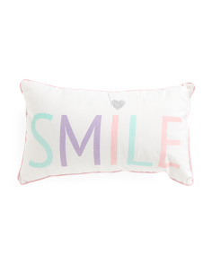 Kids 12x20 Smile Reversible Pillow