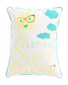 Kids 14x18 Sunshine Reversible Pillow