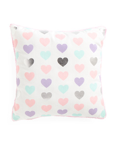 Kids 17x17 Hearts Pillow