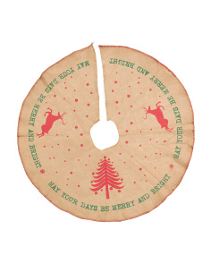 Merry And Bright Jute Tree Skirt