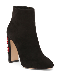 Made In Italy Suede Ankle Booties