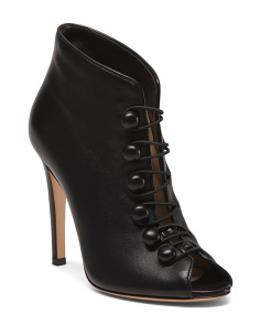 Made In Italy Leather Stiletto Booties