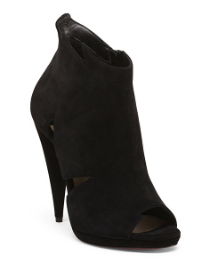 Made In Italy Suede Cut Out Booties