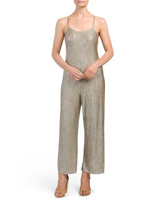 Juniors Metallic Culotte Jumpsuit