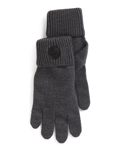 Made In Italy Wool Knit Gloves