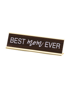 Best Mom Veneer Desk Sign
