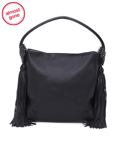 Made In Italy Eloise Leather Hobo Bag